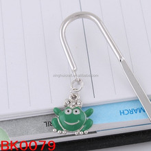 wholesale fashion jewelry new product lovely green frog make bookmark for book