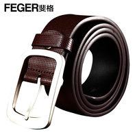 Feger Leather plain Pin Buckle Belt For Men