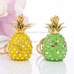 Nice pineapple fruit vegetable keychain