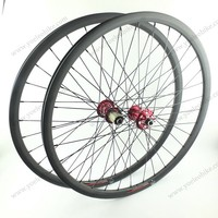High Quality MTB 30MM Wide Clincher 20MM Depth Carbon Bicycle Wheels 26 Inch With Novatec Hubs D711SB/D712SB-AA