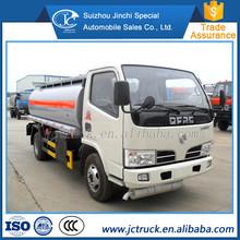 Dongfeng 5000 litri piccolo capacità carburante camion cisterna per la vendita, usato camion cisterna di carburante prezzo