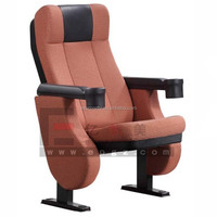 Hot Selling Media Room Seating, Theater Furniture Folding Cinema Chair with Cup Holder