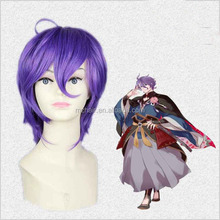 Selling the sword dance Fairy singer and decide Fashionable purple anime wigs cos short hair