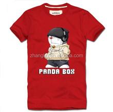 Tropical 100%cotton fabric cartoon t shirts