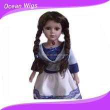 japana style long black doll hair wig,with braided hair