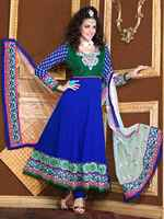 Triveni Night Sky colored Embroidered Salwar Kameez 2002