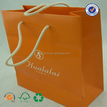 U color Customized paper bags with handles wholesale in canada