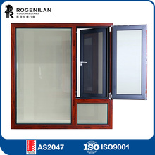 ROGENILAN 1314 thermal break heat insulation house double glazed aluminium casement window
