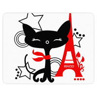 EXCO Promotional funny anime designed black cat mouse pads for schools