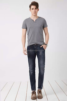 2015 fashion men's trousers high quality washed wholesales slim denim jeans