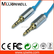 Customized gold plated av 3.5mm jack audio cable