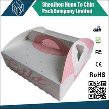 Food grade custom colorful print logo white cardboard beautiful paper small wedding cake boxes