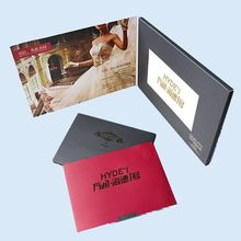 5inch A5 size video greeting card with 128MB memory