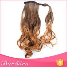 Barbara free sample wholesale fashionable kinky curly weave ponytail