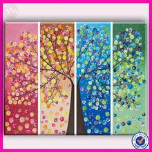 paint art picture for wall decoration canvas painting 4 panel