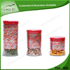Logo can be printed glass kitchen cruet canister set with colorful lid