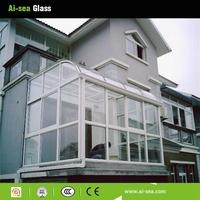 Hot-sale Building Glass Safety Low-e Glass Balcony Sunroom Sale