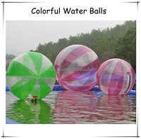 Attractive Colorful PVC/TPU water sphere inflatable water walking ball for sale