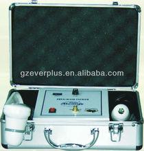 portátil y del pelo analizador de piel lupa con la máquina en av