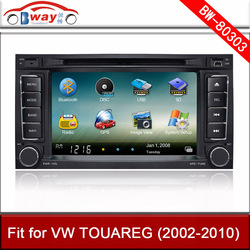 Bway car video player for VW TOUAREG MULTIVAN car DVD player with GPS,car Radio bluetooth,steering wheel