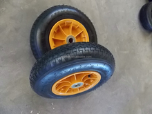 16inch 4.00-8 pneumatic rubber wheel for tool cart