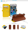 Book style leather wallet case for apple iphone 6s, mobile phone accessories for iphone 6s case cover