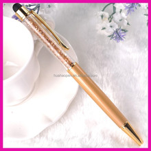 The office stationary Crystal bling stylus pen promotional cheap gift screen touch pen