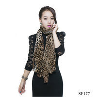 Fashionable scarf Europe and America popular hot sale160*70cm chiffon leopard scarf wholesale and resale