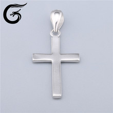 cross pendant of sterling silver necklace for 925 silver jewelry