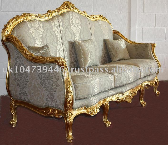 Louis Xv Gold Gilt Sofa Buy French Furniture French