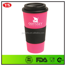 Eco-friendly colorful 16oz bulk coffee mugs with lid