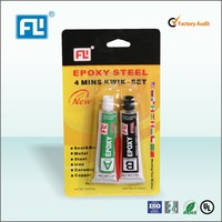 AB glue used for electrical equipment,motorcycle parts with fast curing in 4 min