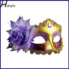 black cat party mask magnetic glittering plastic face mask SC133