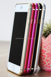 Preminum luxury cheap hot selling Ultra Thin Dual Color Metal 2 color dual color new flat edge Aluminum Bumper Case for iphone 5