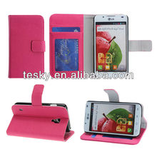 For LG Optimus L7 II DUAL P715 Hot Pu Leather Wallet Travel Case Cover With Card Holder