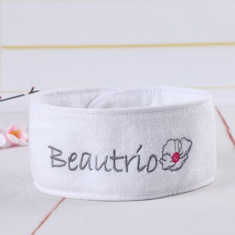 100% polyester spa tête bande ventes cadeaux promotionnels avec logo brodé personnalisé bandeau
