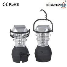 portable led camping solar hand cranking dynamo lantern