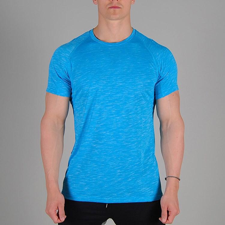 Slub Soft 50 Cotton 50 Polyester Bodybuilding T Shirts