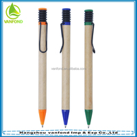 Custom Eco friendly paper recycle pen for promotion