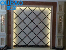 PVC stone composite wall decorative pictures of PVC profile