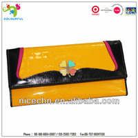 Wholesale and promotional genuine leather ladies leather wallets design