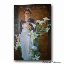 Impression beautiful woman figure paintings