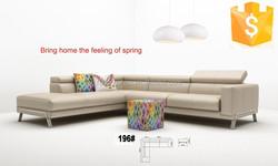 Modern Italian design leather corner sofa home 196#