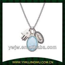 Jenny Present Chalcedony 'Cherish' Hamsa Charm Necklace