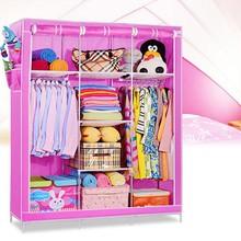 Cheap corner closet fabric foldable storage closet for bedroom (FH-CM0506)