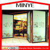 REFLECTIVE GLASS INSERT PICTURE DOUBLE TEMPERED UNCLEAR FOLDING DOOR
