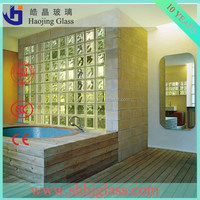 Supply clear and colored glass bricks, decorative glass,glass block walls in bathroom