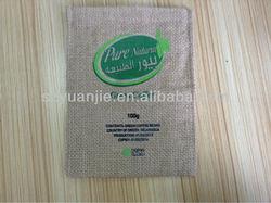 small tesco handmade jute linen bags