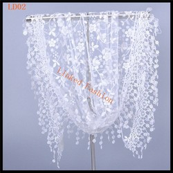 New Fashion Women Long Scarf Wrap Jacquard Embroidered Ladies Shawl Girls Large Lace Silk Scarves