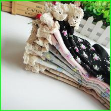 School girls hot dress socks and nylon lace socks
